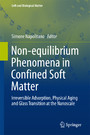 Non-equilibrium Phenomena in Confined Soft Matter - Irreversible Adsorption, Physical Aging and Glass Transition at the Nanoscale